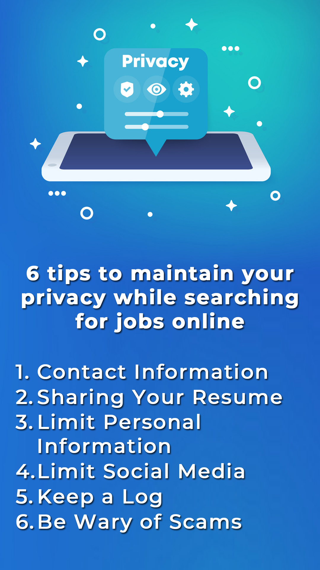 6 Tips To Maintain Your Privacy While Searching For Jobs Online