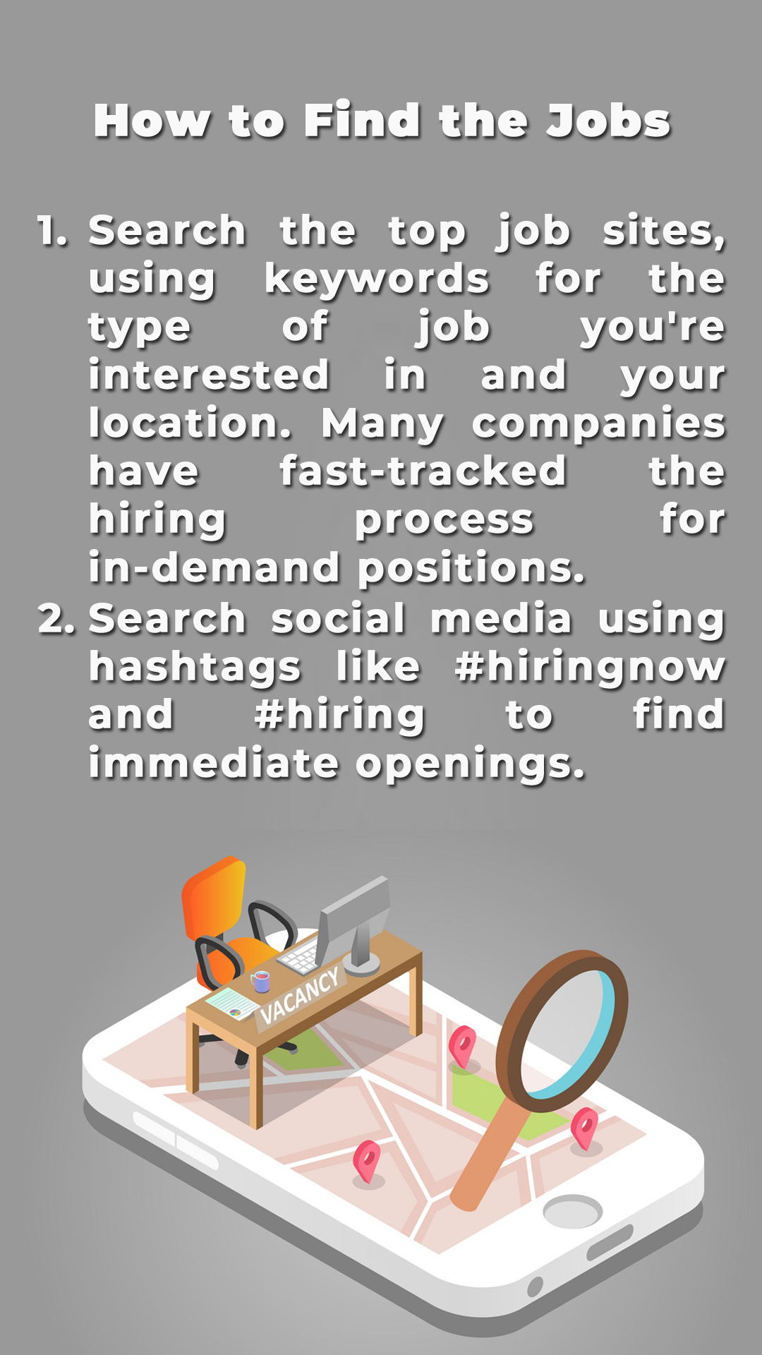HOW TO FIND THE JOBS